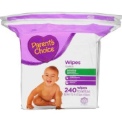 Parent's Choice Refreshing Cucumber Baby Wipes, 240 sheets