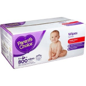 Hypoallergenic and Alcohol Free Parent's Choice Scented Baby Wipes, 800 sheets