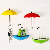 Bescar Colourful Umbrella Key Holder, Key Hanger,Wall Key Rack,Wall Key Holder,Key Organiser For Keys, Jewellery And Other Small Items