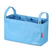 Violet Mist Universal Stroller Organiser Nappy Insulated Storage Bag, Blue