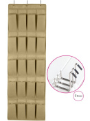 MOHO & HOME Fabric Over The Door Hanging Shoe Storage Organiser 20 Pockets with 3 Hooks