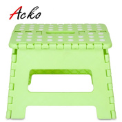 Acko Green 28cm Non Slip Folding Step Stool for Kids and Adults with Handle, Holds up to 140kg