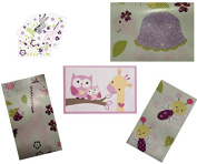 Baby Nursery Wall Art Mural and Reusable Appliques Set