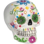 Loftus Day of the Dead Sugar Skull 14cm Decoration Prop, White Multi