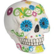 Loftus Day of the Dead Sugar Skull 11cm Decoration Prop, White Multi