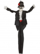 Loftus Day of the Dead Sugar Skull Groom 90cm Hanging Decoration, Black White