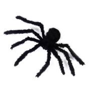 Halloween Prop Spiders Indoor Outdoor Bar Decoration Thrilling Plush Spider Araneid-Black
