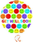 Get Well Soon Bright Smiles 46cm Mylar Balloon Bulk