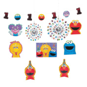 Sesame Street 1st Birthday Room Decorating Kit