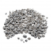 Basic Silvertone Metal Bead Assortment