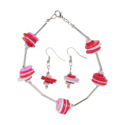 Valentine Button Bracelet & Earrings Craft Kit