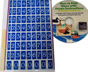 70 Number Stencils, Gala Font + How to Etch CD with Patterns