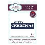 Craft Die CED3064 Sue Wilson Festive Collection - Merry Christmas Trim