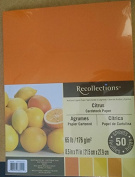 Citrus Assorted 8.5x11 Cardstock Paper Pack - 50 Sheets
