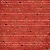 12x12 Scrapbook Paper - ANTS with WORDS - 2 Sheets
