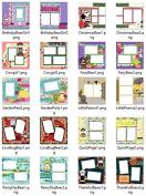 Tear Bear Digital Scrapbooking Quick Pages