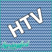CHEVRON PATTERN #3 HTV Distressed Blues Heat Transfer Vinyl 30cm x 36cm Chevron Stripes for Shirts