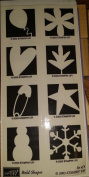 Stampin' Up! Bold Shapes Wood Mounted Rubber Stamps Set of 8
