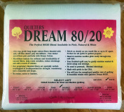 Quilter's Dream 80/20, White, Select Loft Batting - Double Size 240cm x 240cm