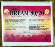 Quilter's Dream 80/20, White, Select Loft Batting - Crib Size 150cm x 120cm