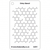 That's Crafty Dinky Stencil 7.6cm x 12cm -Reverse Honeycomb Background
