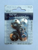 Sew Simple Pack of 5 Nickel Plated Steel Bobbins