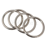 Belts Buckle,Ideaker Silver Chrome Metal O Ring Webbing For 38mm Width Strap Adjuster Pack of 20