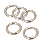 Belts Buckle,Ideaker Silver Chrome Metal O Ring Webbing For 25mm Width Strap Adjuster Pack of 20