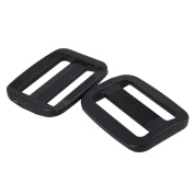 Triglides Webbing Slide Adjusters,Ideaker Black Plastic Triglides Webbing Strapping Slides for 32mm Webbing Pack of 20