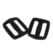 Buckle Lock,Ideaker Black Plastic Triglides Webbing Strapping Slides for 25mm Webbing Pack of 20