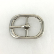 Springfield Leather Company's 1.9cm Nickel Centre Bar Buckle
