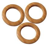 Loop Buckle Trim or Slide Plastic Light Wood Brown Set of 2 Buckles