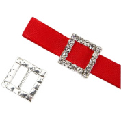 GOOTRADES Rhinestone Buckle Slider for Invitation Wedding Letter (pack of 10)