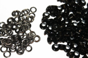 Trimming Shop London Ltd Gun Metal Black Eyelets & Washers - Pack Of 100 Eyelets & Washers 4Mm