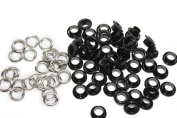 Trimming Shop 100 Pieces Of 4mm Shiny Black Eyelets & Washers Grommets Grommets For Safety And Home Repair Construction Manual Plier Or Machine Setting