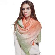 Women's Wool Scarf Shawl Comfortable Soft Long Warm Wool Scarf Shawl for Women