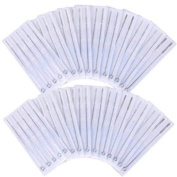 NEW LEAF 100pcs Tattoo Needles Disposable Sterile Mixed Sizes