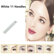 GD 50 PCS 11Pin Permanent Makeup Manual Eyebrow Tattoo Needles Blade For 3D Embroidery Microblading Pen Machine