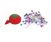 WellieSTR 120PCS Multicolor Pins with 1 Tomato Pin Cushion