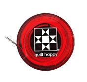 Quilt Happy Tape Measure Red