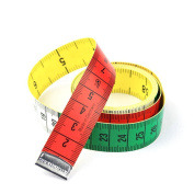 HONGYETAJA 150cm Soft Tape Measure for Sewing Tailor Cloth Ruler Set-of-2 Multi-colour