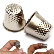 WellieSTR 50PCS 18mm fashion useful Finger Thimbles Metal Shield Sewing Grip Protector Pin Needle Shield Craft