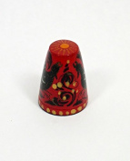 Russian Hand Painted Lacquer Thimble CAPERCAILLIE #1425
