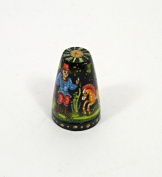 Russian Lacquer Hand Painted Thimble FAIRY TALE #1420