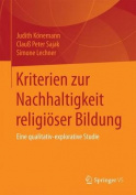 Kriterien Zur Nachhaltigkeit Religioser Bildung [GER]