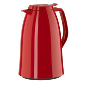 Emsa E517007 Mambo High Impact Plastic Thermal Carafe with Glass Liner, 1010ml, Red