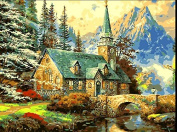 Landscape Paint by Number Kits, DIY Animal oil Painting by Numbers on Canvas The castle