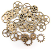 ALL in ONE 30pcs Steampunk Gear Wheel Charms Cog Connectors Pendants Jewellery Finding DIY Craft