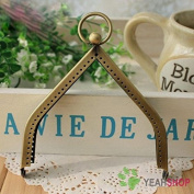 Antique Brass Purse Frame - House Shape - 11cm / 4.3 inch