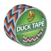 Duck Brand 283044 Printed Duct Tape, Blue Chevron, 4.8cm x 10 Yards, Single Roll